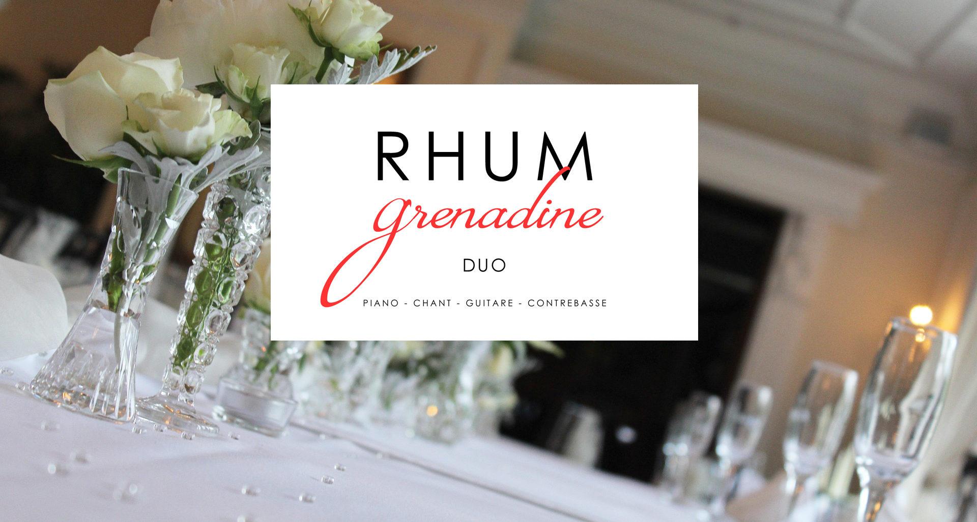 Duo Rhum Grenadine, animation cocktail de mariage ou soirée privée.